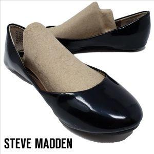 STEVE MADDEN P-Heaven Black Patent Flats Size 6M